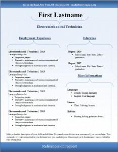 Free cv resume template #93