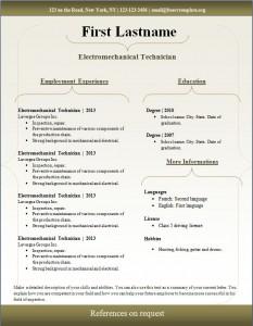 Free cv resume template #94