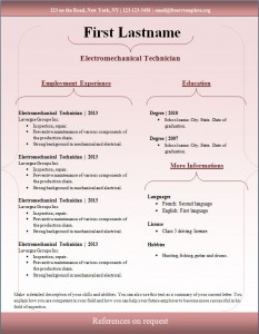 Free cv resume template #95
