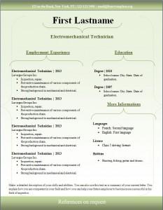 Free cv resume template #96
