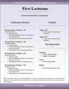 Free cv resume template #97