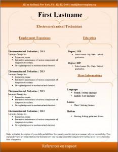 Free cv resume template #98