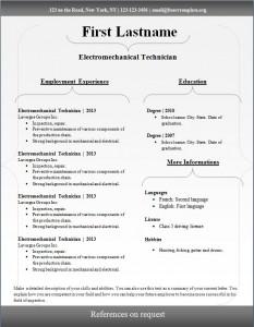 Free cv resume template #99