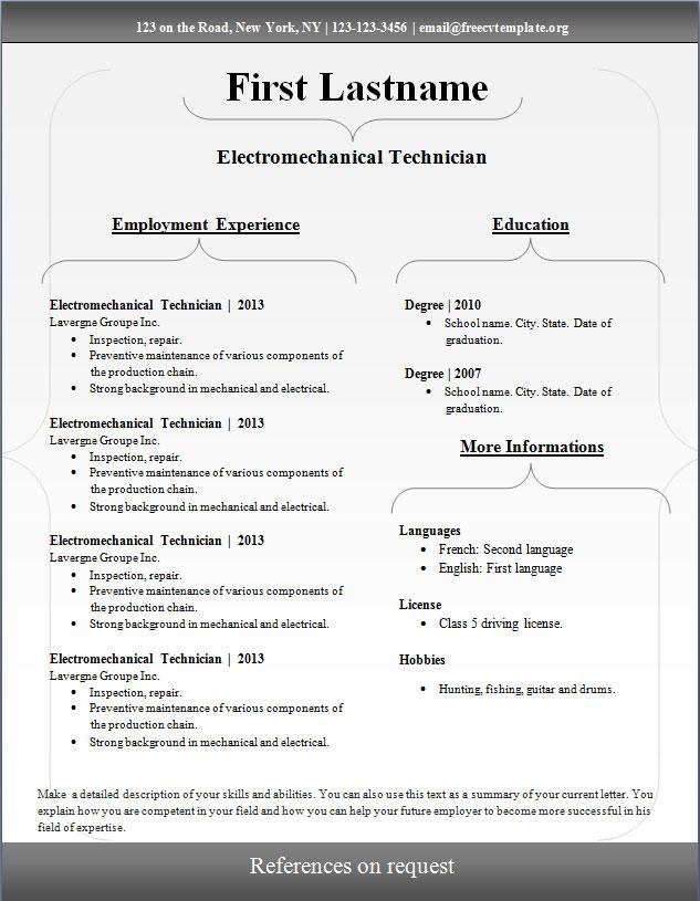 CV Template #99