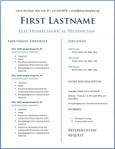 Free CV Template #114