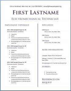Free CV Template #118