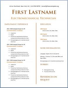 Free CV Template #119