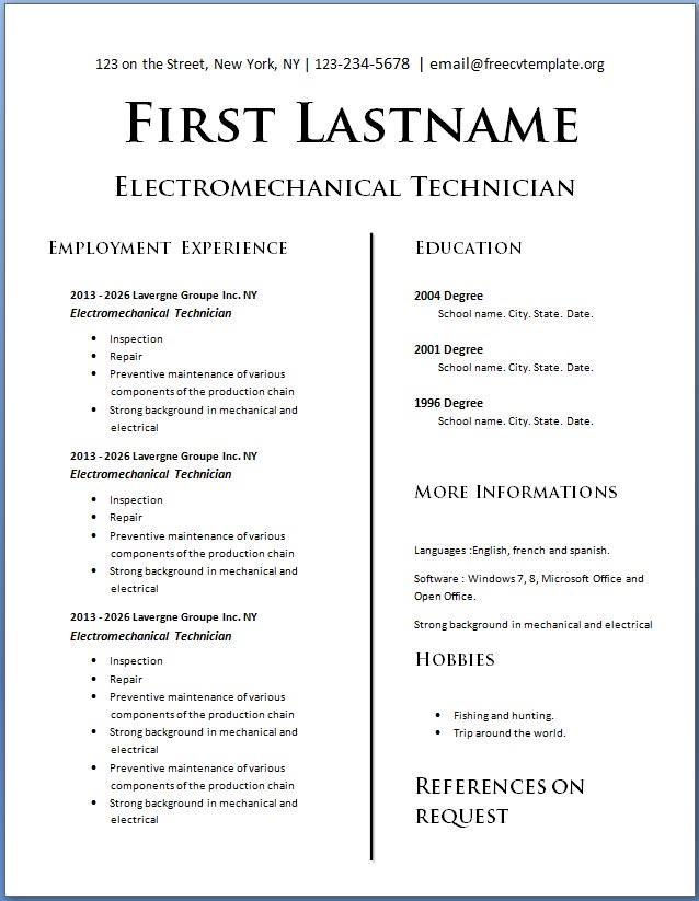 Resume Template For Teens from www.getafreecv.com