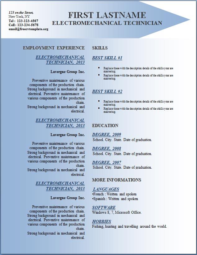 Free CV Resume Templates #142 to 148