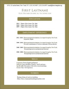 Free resume cv template #157
