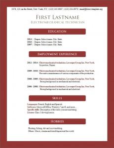 Free resume cv template #158