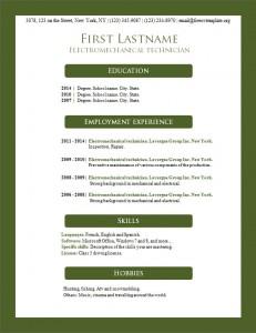 Free resume cv template #159