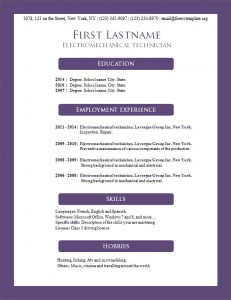 Free resume cv template #160