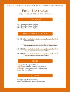 Free resume cv template #161