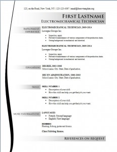 Free cv resume template #163