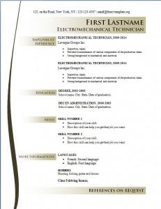 Free cv resume template #164