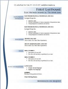 Free cv resume template #165