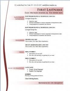 Free cv resume template #166