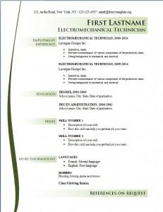 Free cv resume template #167
