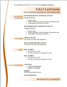 Free cv resume template #169