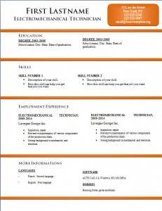 Free word cv resume template #170