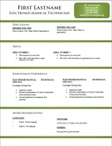 Free word cv resume template #173