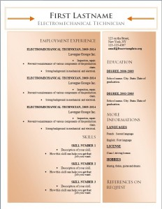 Free word cv resume template #177
