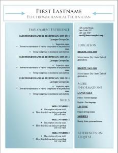 Free word cv resume template #178