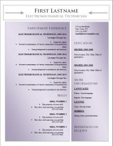 Free word cv resume template #179