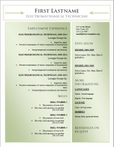 Free word cv resume template #180