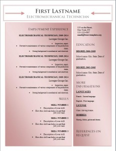 Free word cv resume template #181