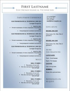Free word cv resume template #182