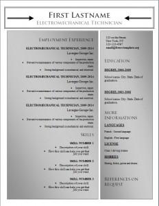 Free word cv resume template #183