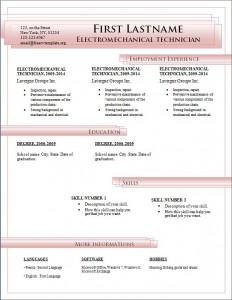 Free cv resume template #185