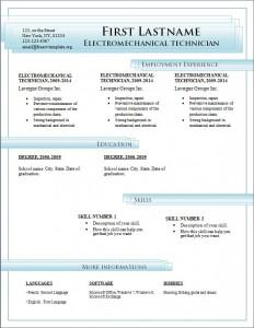 Free cv resume template #188
