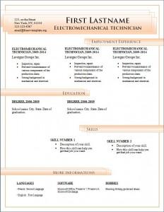 Free cv resume template #189