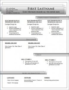 Free cv resume template #190