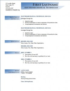 Free cv resume template #191
