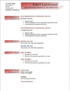 Free cv resume template #192