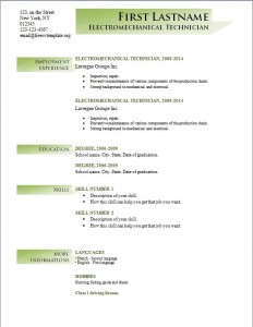 Free cv resume template #193