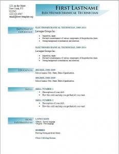 Free cv resume template #195
