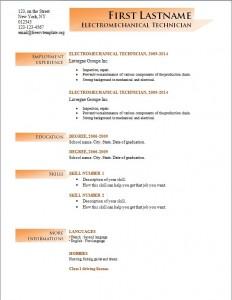 Free cv resume template #196