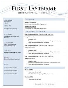 Free cv resume template #205
