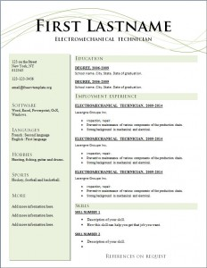Free cv resume template #208