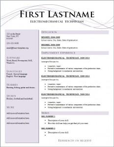 Free cv resume template #209