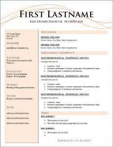 Free cv resume template #210