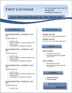 Free cv resume template #212