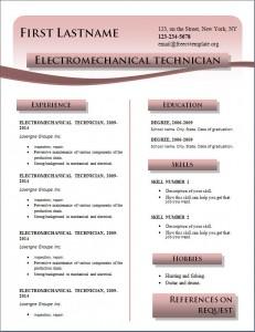 Free cv resume template #214