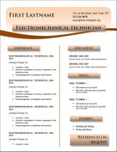 Free cv resume template #217