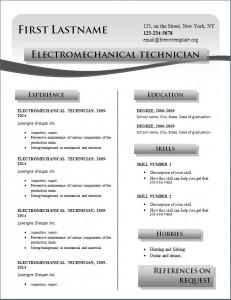 Free cv resume template #218